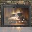 Sion Fireplace Door in Rustic Black