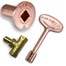 Dante Antique Copper Straight Quarter-Turn Shut-Off Valve Kit