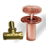 Antique Copper Shut Off Valve Kit For Gas Fire Features