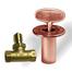 Antique Copper Shut Off Valve Kit For Gas Fire Features