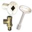 Satin nickel gas valve kit