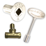 Dante Satin Nickel Sraight Quarter-Turn Shut-Off Valve Kit