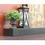 Steel Mantel Shelf 36 Inch in matte black