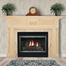 The Clifton fireplace mantel with a custom finish made by a homeowner.
