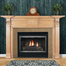 The Downton fireplace mantel with a custom finish made by a homeowner.