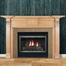 The Downton fireplace mantel.