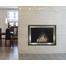 Pinnacle Masonry Fireplace Door - Matte Black main frame with Brite Nickel door frame.
