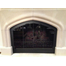 Cathedral Arched Fireplace Door in Matte Black