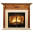 Arden Mantel - shown here in Oak with a cordovan finish.