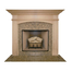Arched Sandringham Mantel - shown here in Maple with Whitewash finish