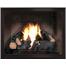 Slim Moderne Zero Clearance Fireplace Door in Espresso