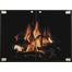 Vanguard Thinline Fireplace Door in Matte Black & Antique Steel Hinge And Knob