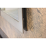 Saratoga hidden main frame behind Antique Steel premium finish door frame