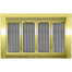 Sentry Traditional Fireplace Doors in Polished Brass
