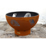 Finished in iron oxide patina that will beautifully mature over time