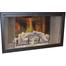 Nightwell Zero Clearance Fireplace Door in Matte Black