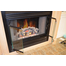 Nightwell ZC fireplace door with fully opened trackless bi-fold doors.