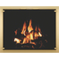 Appalachian All Glass Masonry Fireplace Door in satin brass overlay finish
