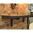 Steel Fireplace Mantel Shelf - custom length in charcoal