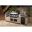 FireMagic Black Diamond Edition pre-fab grill island with refrigerator 108 inch