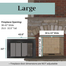 For fireplace openings that are 36 to 43 inches wide and 25.5 to 32.5 inches tall, the large size range Ardmore fireplace door is needed