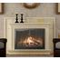 Beauregard Masonry Fireplace Door Installed (shown in Black powder coat)