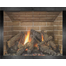 Saratoga Hidden Frame Fireplace Door shown in Pewter overlay finish