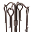 Top detail on the stand for the Traditional Fireplace Tool Set In Burnished Bronze