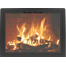 The Contour Masonry Fireplace Door has a features curved frame corners.