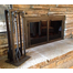 Black Rock Fireplace Tool Set with matching Black Rock Masonry Fireplace Door!