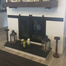 Custom Paterson sliding door for a customer's see through masonry fireplace!