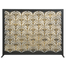 Black and Antique Gold Fan Design Panel Screen