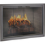 Brookfield Zero Clearance Fireplace Door in Classic Bronze with Simplicity handles