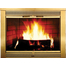 Regal Fireplace Door In Plated Polished Brass