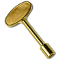 Brass gas valve key