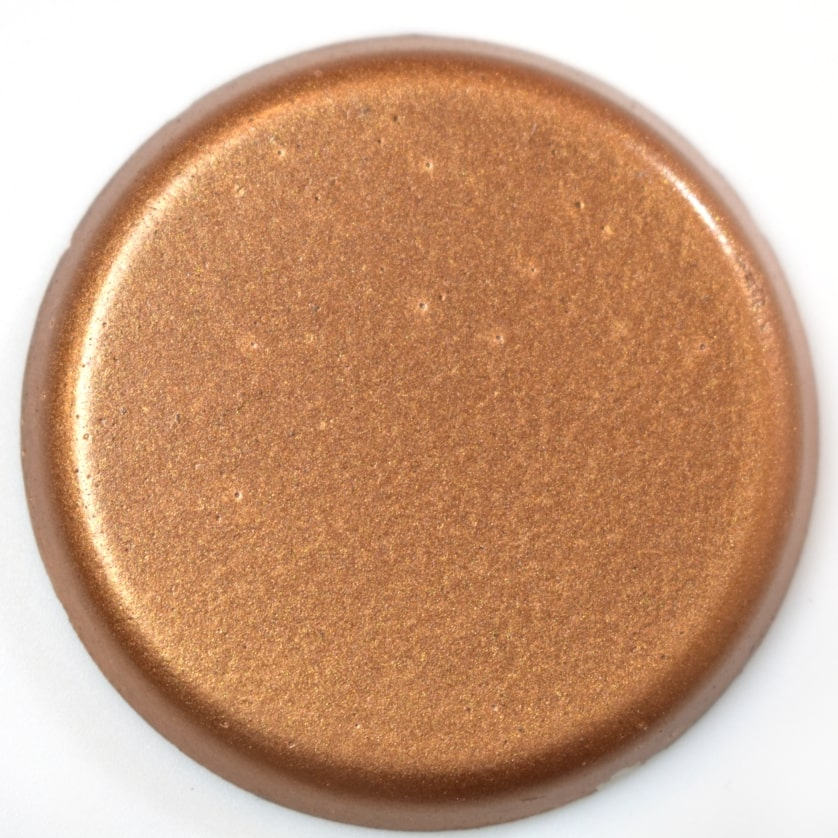 Copper Metallic Finish colorant for concrete fire bowls.