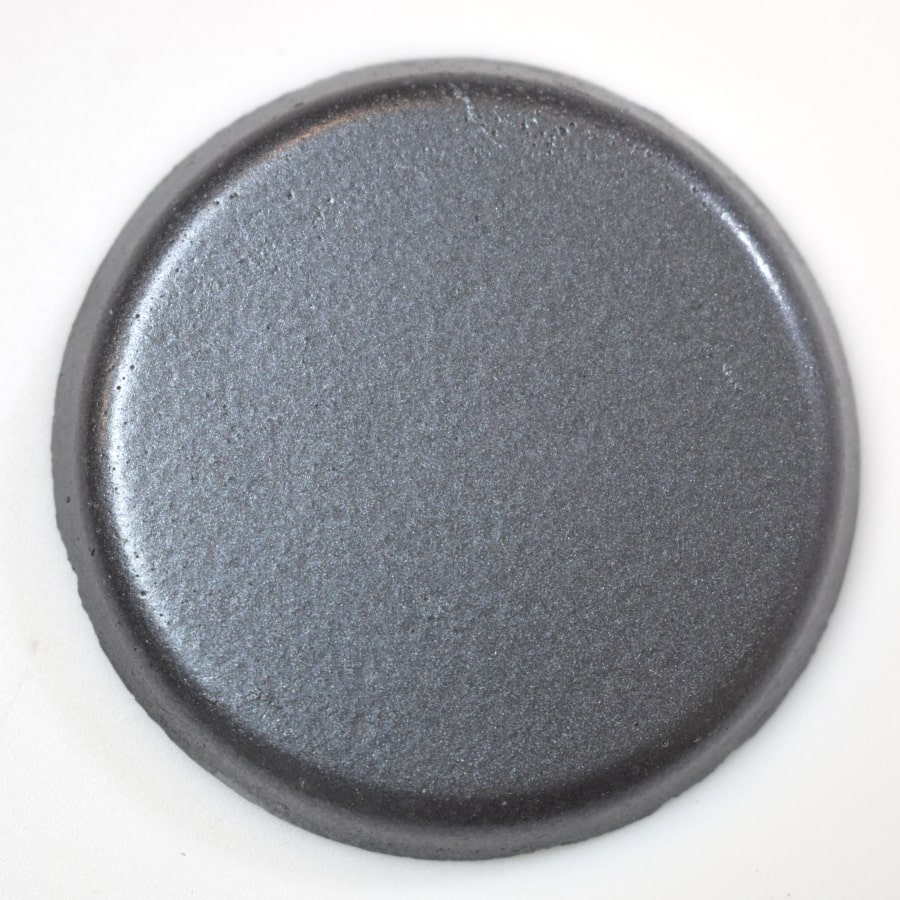 Slate Metallic Finish colorant for concrete fire bowls.